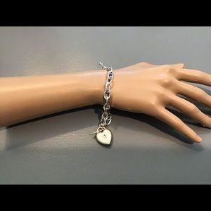 Jewelry - Silver Style Heart Locket Bracelet